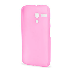 Translucent Shell Cover for Motorola Moto G - Pink