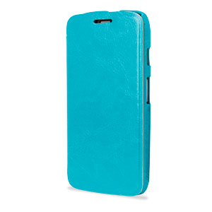 Leather Style Flip Case for Moto G - Blue