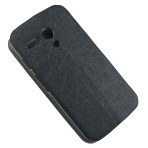 Book Flip and Stand Case for Motorola Moto G - Black