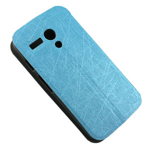 Book Flip and Stand Case for Motorola Moto G - Blue