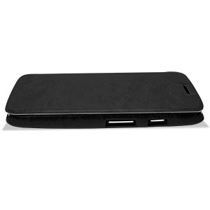 Leather Style Flip Case for Moto G - Black