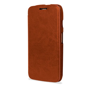 Leather Style Flip Case for Moto G - Brown