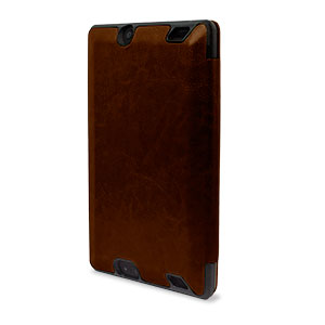 Infold Folding Folio Stand Case for Kindle Fire HD 2013 - Dark Brown