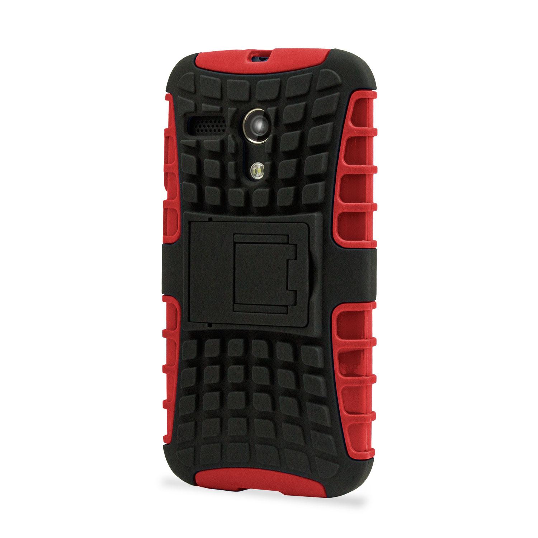 Armourdillo Hybrid Protective Case for Motorola Moto G - Red