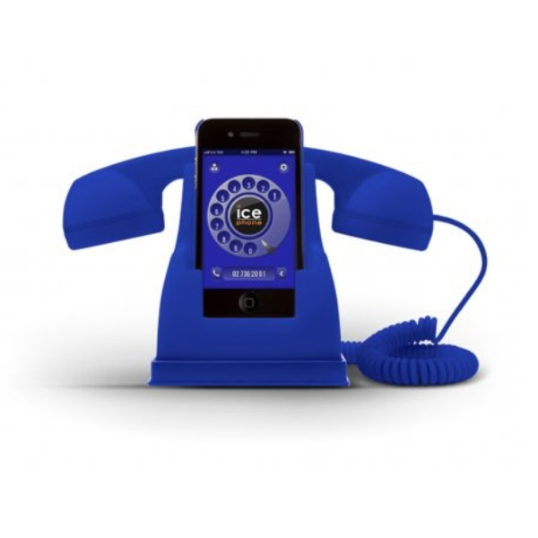 Ice-Phone Retro Handset - Blue