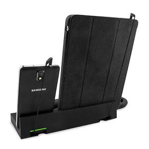 Support bureau avec combiné Native Union Curve pour deux appareils - tablette et smartphone
