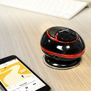 Intempo Bluetooth Bathroom Speaker - Black / Red