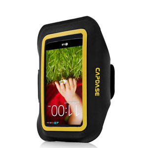 Capdase Zonic Plus Sport ArmBand 145A for Smartphones - Black / Yellow