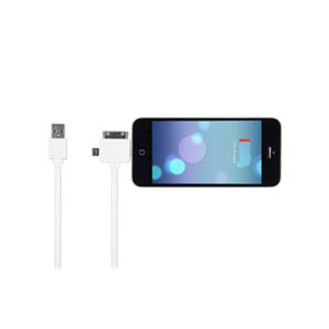 STK 3 in 1 Data and Charging Cable with 8Pin Connector - White
