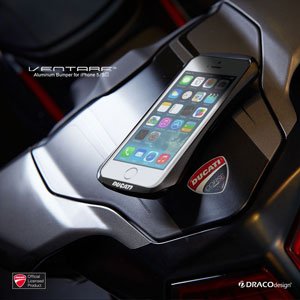 Draco Ducati Ventare A Aluminium Bumper for iPhone 5S / 5 - black