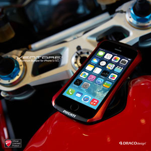 Draco Ducati Ventare A Aluminium Bumper for iPhone 5S / 5 - Red