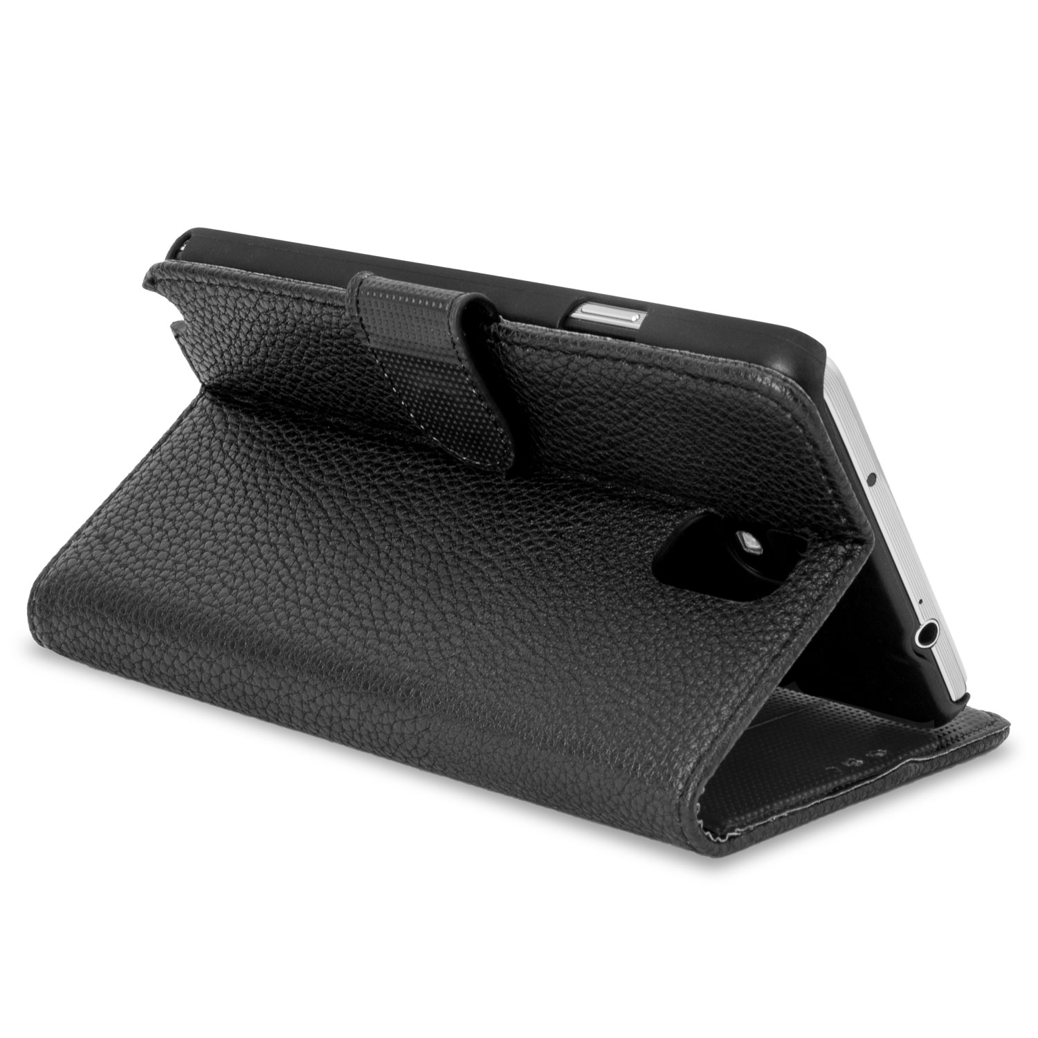 Adarga Leather Style Wallet Case For Samsung Galaxy Note 3 - Black