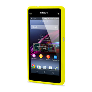 Muvit Bimat Back Case for Sony Xperia Z1 Compact - Clear / Yellow