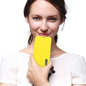 ROCK Elegant Side Flip Case for Moto X - Yellow