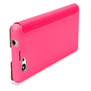 Muvit Easy Folio Leather Style Case for Sony Xperia Z1 Compact - Pink
