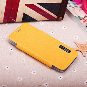ROCK Elegant Side Flip Case for Moto X - Orange