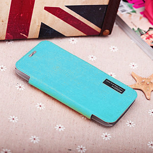 ROCK Elegant Side Flip Case for Moto X - Teal Green