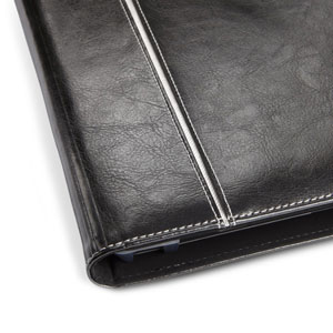 Maroo Leather Folio Case fo Microsoft Surface 2 - Obsidian Black