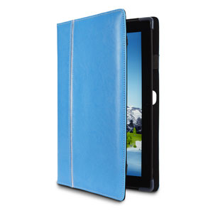 Maroo Leather Folio Case for Surface Pro 2 / Pro - Obsidian Black