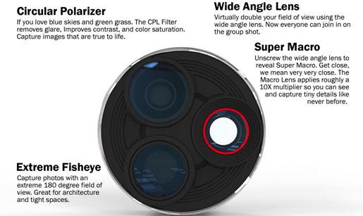 Ztylus 4 Camera Case & Revolver Lens Kit for Samsung Galaxy S4