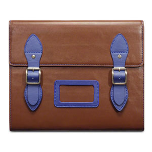 Covert Varsity Leather Satchel Case for iPads - Brown