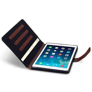 Covert Metropolitan Case for iPad Air - Black / Brown
