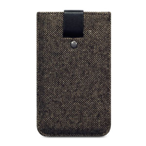 Covert Berkeley Leather Style Pouch Case for iPhone 5S / 5 - Tweed