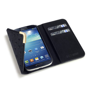 Covert Suki Leather Style Purse Case for Samsung Galaxy S4 - Black