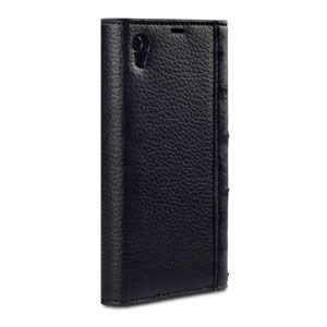 Covert Suki Leather Style Purse Case for Sony Xperia Z1 - Black