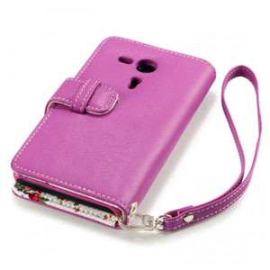 Terrapin Leather Style Wallet Case for Sony Xperia SP - Pink