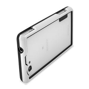 Flexiframe Sony Xperia Z1 Compact Bumper Case - White