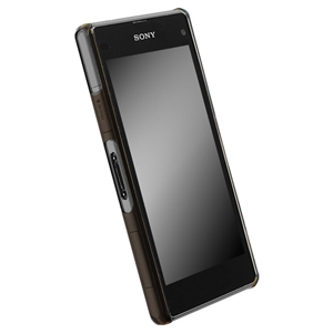 Krusell FrostCover Case for Sony Xperia Z1 Compact - Transparent Black