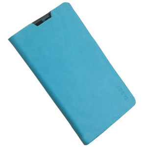 Stand and Type Folio Case for Wiko Cink Five - Blue