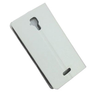 Stand and Type Folio Case for Wiko Cink Five - White