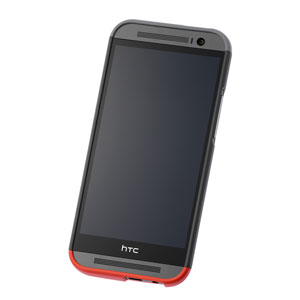 Official HTC One M8 Double Dip Hard Shell - Grey and Red