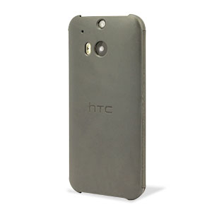 Official HTC One M8 Flip Case - Grey