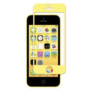 Moshi iVisor Glass Screen Protector for iPhone 5S / 5C / 5 - Yellow