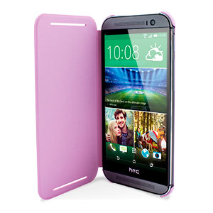 Official HTC One M8 Flip Case - Pink