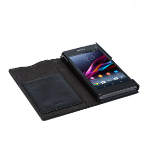 Zenus Lettering Diary Case for Sony Xperia Z1 Compact - Black