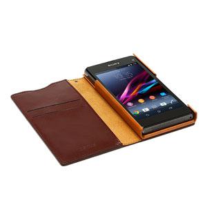 Zenus Prestige Signature Diary for Sony Xperia Z Compact - Wine