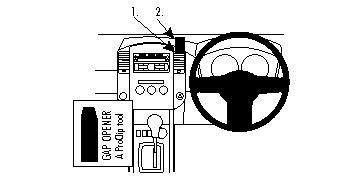 Brodit ProClip Console Mount for Nissan 350 Z 03-09