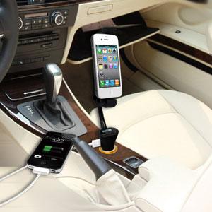 Soporte de Coche/Cargador/Transmisor FM RoadWarrior iPhone 5S / 5C / 5