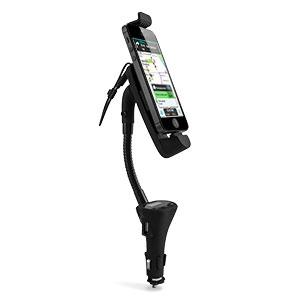 Supporto auto, Caricabatterie e Trasmettitore FM RoadWarrior per iPhone 5S / 5C / 5