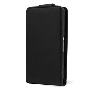Qubits Faux Leather Flip Case for Sony Xperia Z1 Compact - Black