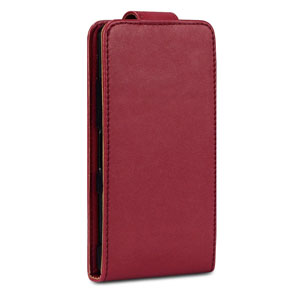 Qubits Faux Leather Flip Case for Sony Xperia Z1 Compact - Red