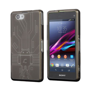 Cruzerlite Bugdroid Circuit Case for Xperia Z1 Compact - Smoke Black