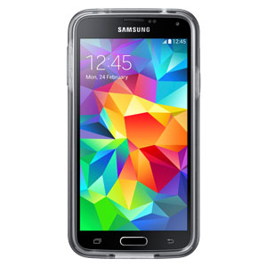 Official Samsung Galaxy S5 Protective Hard Case Cover Plus - Grey