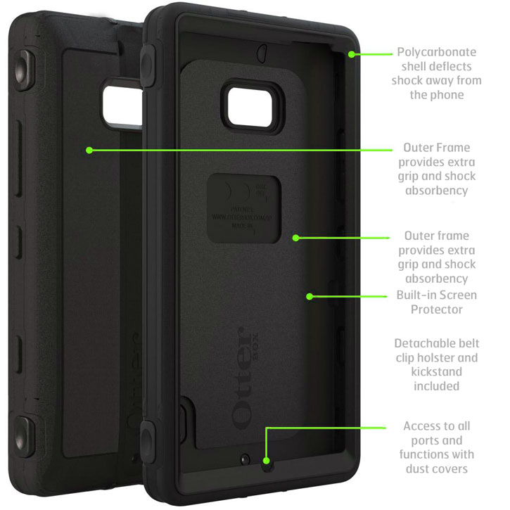 OtterBox Defender Series for Nokia Luma 930 - Black