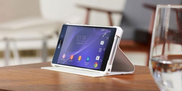 Official Sony Bi-Fold Folio Case for Xperia Z2 - White