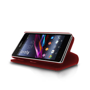 Orzly Wallet Case for Xperia Z1 Compact - Red